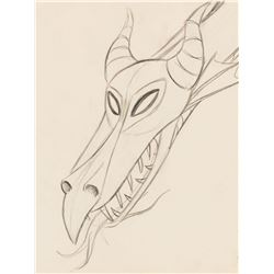"""Maleficent"" as the ""Dragon"" production drawing from Sleeping Beauty."