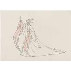 """Maleficent"" pan production drawing from Sleeping Beauty."