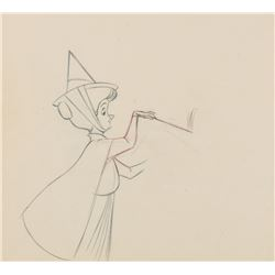 """""""Fauna"""" production drawing from Sleeping Beauty."""