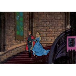 """""""Prince Philip"""" and """"Aurora"""" production cel from Sleeping Beauty."""