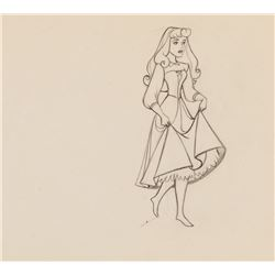 """Marc Davis """"Briar Rose"""" production drawing for Sleeping Beauty."""