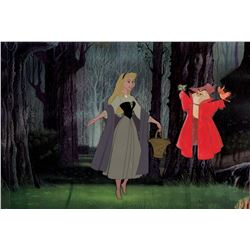 """""""Sleeping Beauty"""" and the """"Mock Prince"""" production cels from Sleeping Beauty."""