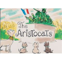 (2) Ken Anderson concept paintings of the opening and closing titles for The Aristocats.