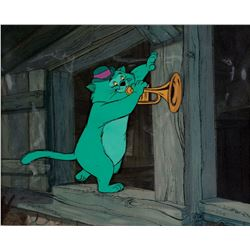"""Scat Cat"" production cel from The Aristocats."
