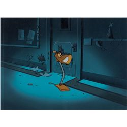 "Lampy"" production cel on a production background from The Brave Little Toaster."