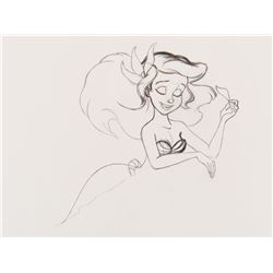 """Ariel"" production drawing from The Little Mermaid."
