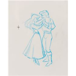 """Ariel"" and ""Prince Eric"" production drawing from The Little Mermaid."