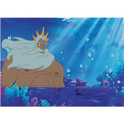 """King Triton"" production cel from The Little Mermaid."