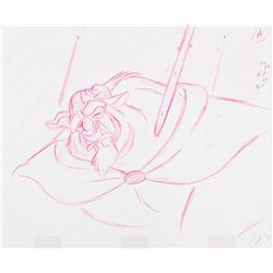 """Glen Keane """"Beast"""" production drawing from Beauty and the Beast."""