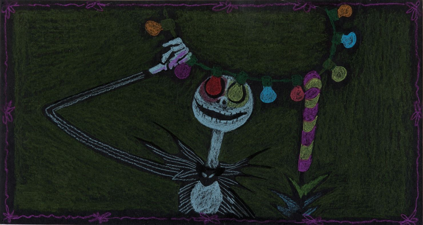 """Jack Skeleton"""" concept drawing from Nightmare Before Christmas."""