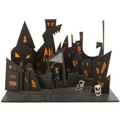 """Halloween Town"" concept design model featuring ""Jack"" for The Nightmare Before Christmas."