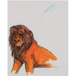 """""""Simba"""" concept production drawing for The Lion King."""