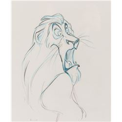 """""""Scar"""" production drawing from The Lion King."""