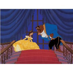 """Belle"" and the ""Beast"" sericel from Beauty and the Beast entitled, ""Change of Heart""."