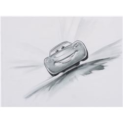 """""""Lightning McQueen"""" concept production drawing for Cars."""