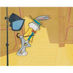 """Bugs Bunny"" production cel on a backstage production background from The Bugs Bunny Show."