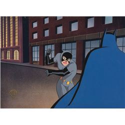 """Batman"" and ""Catwoman"" production cel from Batman the Animated Series."