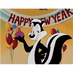 """""""Pepe Le Pew"""" production cel with matching drawing from Warner Bros. theatrical short."""