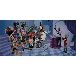 We are the Tunes limited edition cel signed by Quincy Jones.