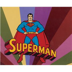 """""""Superman"""" title production cels from the original Super Friends series."""