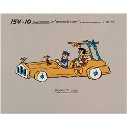 """Barney and Betty Rubble"" production model cel from Barney's Luck."