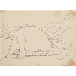 "(2) Winsor McCay production drawings of ""Gertie the Dinosaur""."