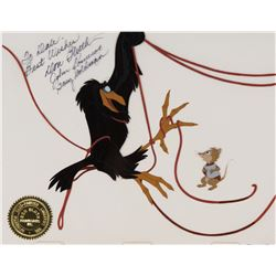 """Mrs. Brisby"" and ""Jeremy the Crow"" production cels from The Secret of NIMH."