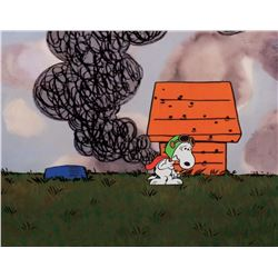 """Snoopy"" as the ""Flying Ace"" production cel from It's the Great Pumpkin, Charlie Brown."