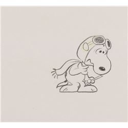 """Snoopy"" as the ""Flying Ace"" production drawing from It's the Great Pumpkin, Charlie Brown."