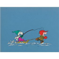 """Charlie Brown"" and ""Snoopy"" production cel from What a Nightmare, Charlie Brown."