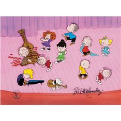 "Peanuts limited edition cel from A Charlie Brown Christmas entitled, ""The Dance""."