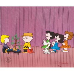 "Peanuts limited edition cel from A Charlie Brown Christmas entitled, ""Dress Rehearsal""."