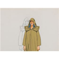 """Taarna"" production cel with matching production drawing from Heavy Metal."
