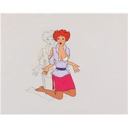 """Gloria"" production cel with matching production drawing from Heavy Metal."