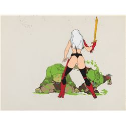 """Taarna"" and thugs production cels from Heavy Metal."