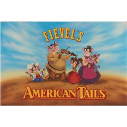 American Tail: Fievel Goes West original illustration art for movie poster.