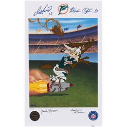 "Dan Marino and Mark Clayton ""Bombs Away"" signed limited edition lithograph."