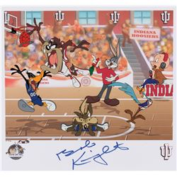 "Bob Knight ""Slam Dunk"" signed limited edition lithograph."