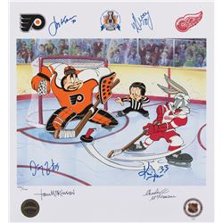 "Detroit Red Wings ""Bringing Home the Cup"" signed limited edition lithograph."