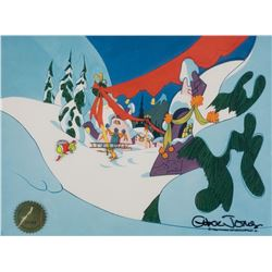 """""""Grinch"""" and """"Max"""" production cels from How the Grinch Stole Christmas."""