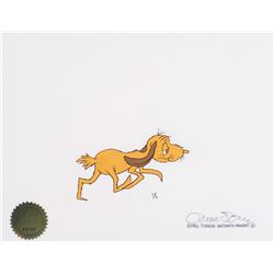 """""""Max"""" one of one cel with its matching production drawing from How the Grinch Stole Christmas."""