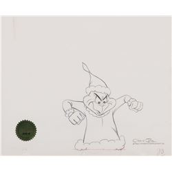 """""""Grinch"""" production drawing from How the Grinch Stole Christmas."""