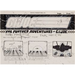 G.I. Joe: A Real American Hero original production storyboards for the opening title sequence.