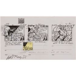 Street Fighter original production storyboards for Season's 1 opening title sequence.