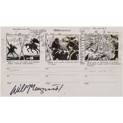 Conan the Adventurer original production storyboards for Season's 1 opening title sequence.