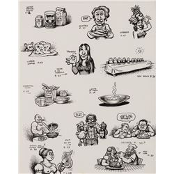 Robert Crumb original drawing from Eat It: A Cookbook.