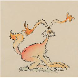 Dr. Seuss drawing of a funny animal with big ears.