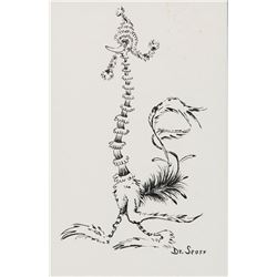 Dr. Seuss drawing of a funny animal with a long neck.