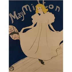 Toulouse Lautrec original lithograph of May Milton for her American Tour.