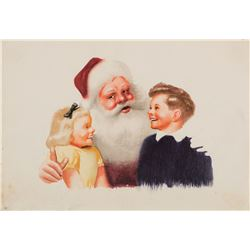 Santa Claus illustration art by Irv Wyner.